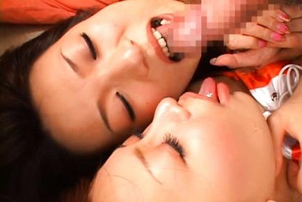 Kanako Tsuchiya and Saori Lovely Japanese race queens