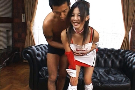 Rena Nagai Pretty Asian racequeen gets a gangbang