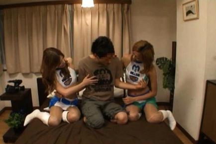 Jun Asami and Karela Ariki are two hot racequeens