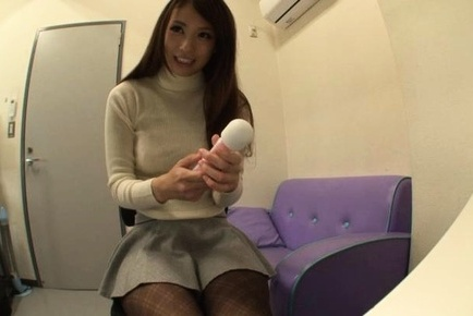 Adorable Japanese race queen in black pantyhose Yui Ooba