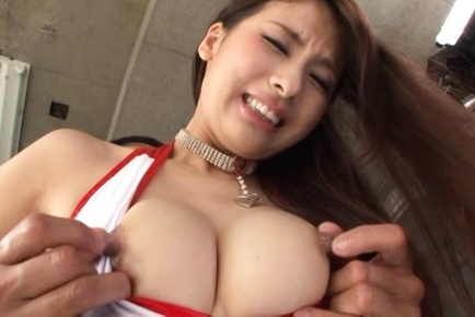 Flawless Japanese race queen Yui Ooba fucked doggie fashion
