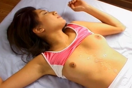 Asian Teen Marin Gets Her White Panty Clad Pussy Fucked Hard