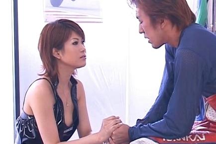 Beautiful Miori Hoshi Fucks for Her Next Racing Model Shoot