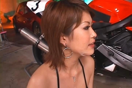 Kinky Miori Hoshi Loves How a Motorbike Feels Between Her Sexy Legs