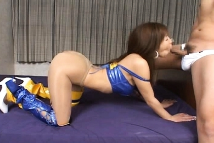 Race Car Queen in Yellow and Blue Finds Her Pussy Fingered and Fucked