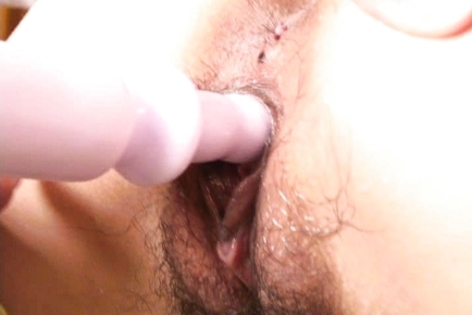 Naughty Moe Ousawa Using a Vibrator and Dildo in her Pussy