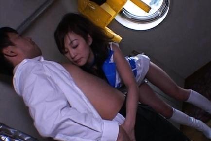 Horny Mako Katase Fucks Her Sugar Daddy on a Yacht in the Ocean