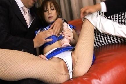 Rich Businessmen Finger and Fuck Racing Queen Miina Yoshihara