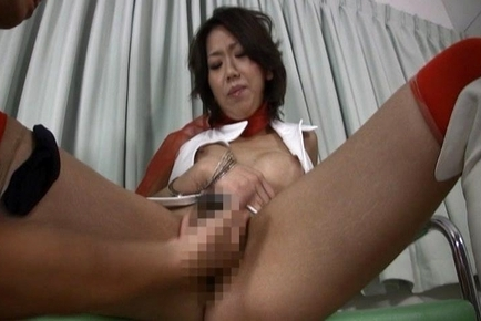 Pretty Little Racing Queen gets Her Pantyhose Clad Pussy Fingered